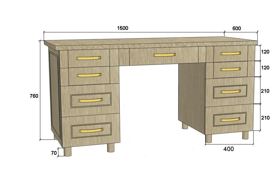 Индивидуальный письменный стол в мебельном салоне галатея.