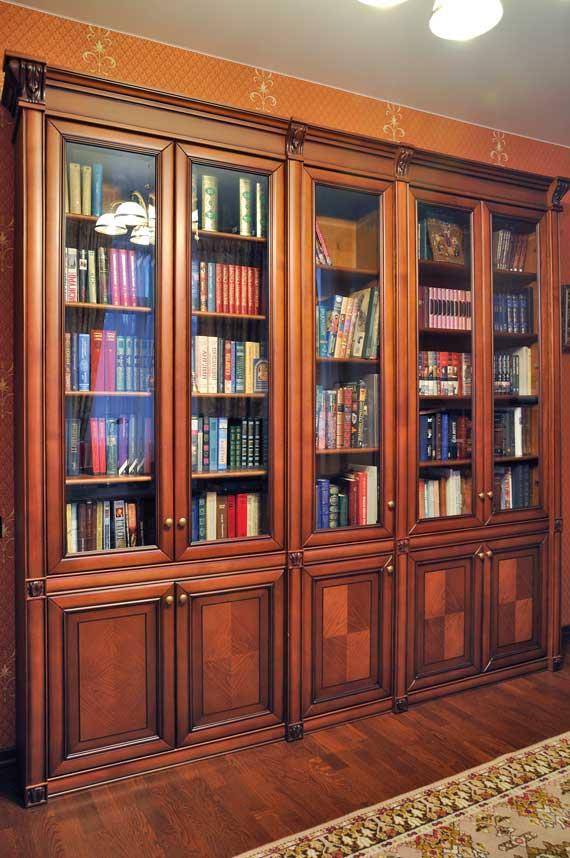 Книжный шкаф элегия из массива дерева бука или дуба.