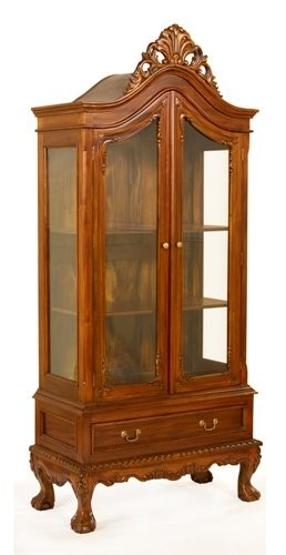 Витрина двухдверная MK-CAB04/DISP цвет:Вишня. Henry 2D display cabinet, ANTIQUE