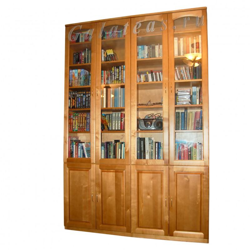 Книжный шкаф из дерева по эскизу.