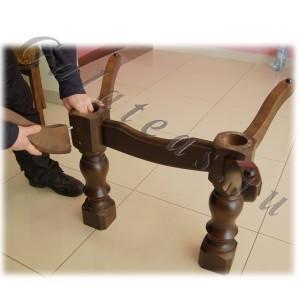Сборка стола на 2-х ножках начало